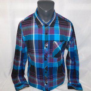 O'Neill Mens XL Blue Purple  Button Front Shirt